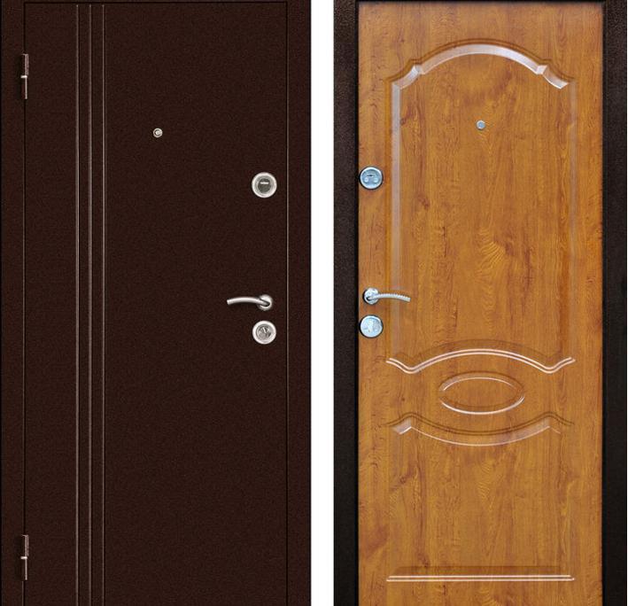 дверь входная левая золотой